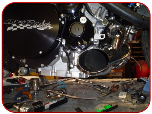 custom motorcycle rcc race turbo kit installation